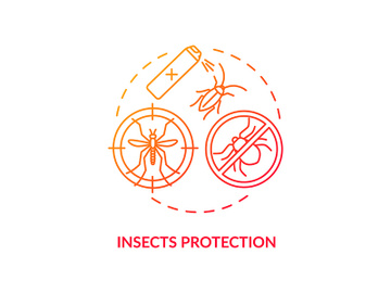 Insects protection concept icon preview picture