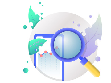 illustration vector icons analyses and report financial data preview picture