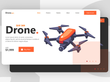 Drone Landing Page preview picture