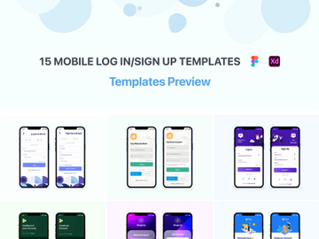 15 Login Sign-Up Templates [Free for Personal Use] preview picture
