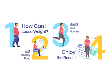 Losing weight vector infographic template preview picture
