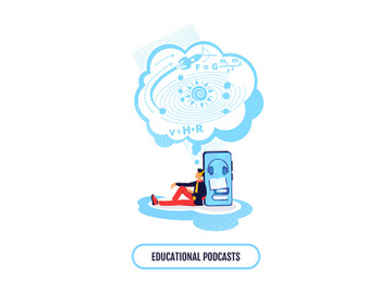 Ebook for science class flat concept vector illustration preview picture