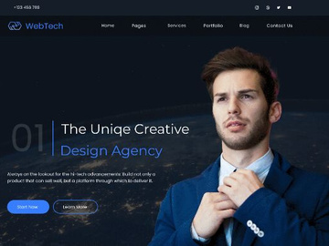 Digital Agency Website Template preview picture