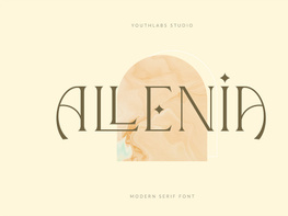 Allenia Luxurious Serif Font preview picture