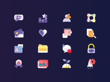 Glass : Mixed IconSet preview picture