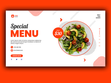 Food Menu Landing Page preview picture