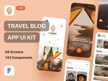 Journal - Travel Blog App UI Kit Light Mode preview picture
