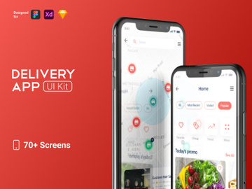 Delivery App Ui Kit preview picture