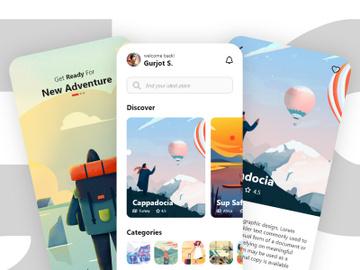 Travel.io App Design preview picture