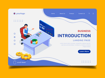 Business Introduction - Landing Page Illustration Template preview picture