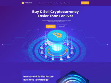 Cryptocurrency & Bitcoin Website Landing Page preview picture
