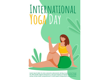 International yoga day brochure template preview picture