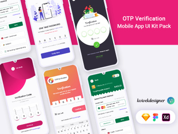 OTP Verification Screen Mobile App UI Pack preview picture