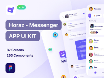 Horaz - Community & Personal Messanger App UI Kit preview picture