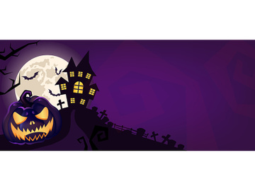 Halloween scary purple vector background preview picture