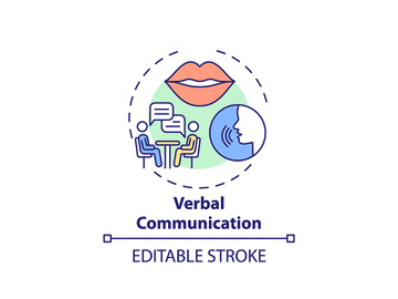 Verbal communication concept icon preview picture