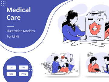 Flat Illustration Medical Care preview picture