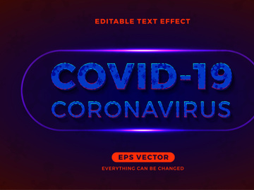 Coronavirus editable text effect vector template preview picture