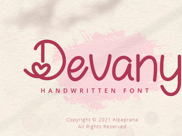Devany - Handwritten Font preview picture
