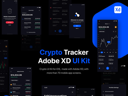 Crypto Portfolio Tracker UI Kit for iOS by Victor Niculici