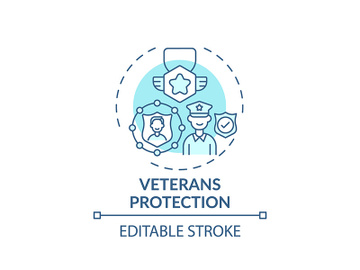 Veterans protection concept icon preview picture