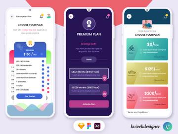 Premium Subscription Plan App UI Kit preview picture