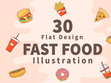 30 Fast food and Burger Vector preview picture