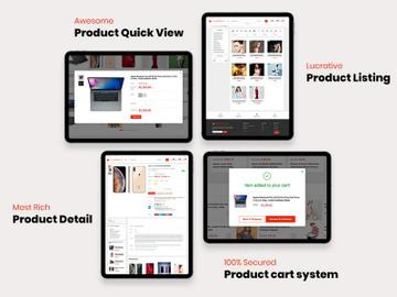 Ecommerece Web Platform + Flutter App (Full App + Database) preview picture