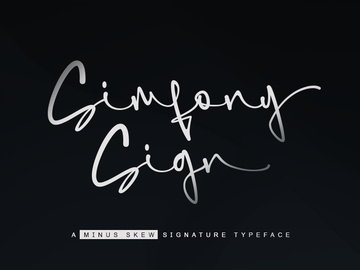 Simfony Sign   Signature font preview picture