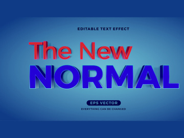 Modern Blue New Normal editable text effect vector template preview picture