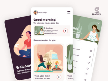 MindTales Mental Health App in Adobe XD preview picture