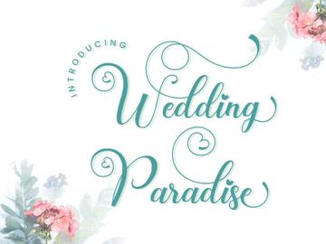 Wedding Paradise - Elegant Calligraphy Script Font preview picture