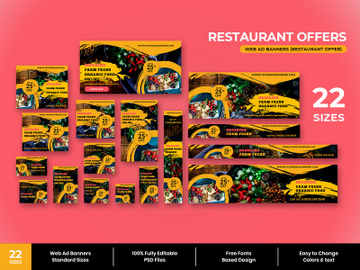 Restaurant Offer Web Ad Banner preview picture