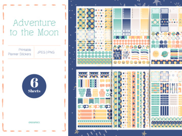 Adventure to the Moon Planner Stickers preview picture