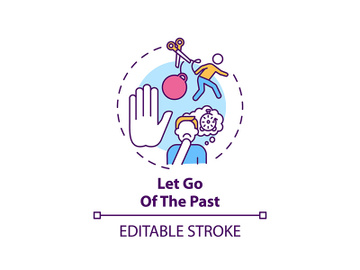 Let go of the past concept icon preview picture