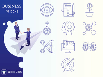 Outline : Business And Finance Icon set preview picture