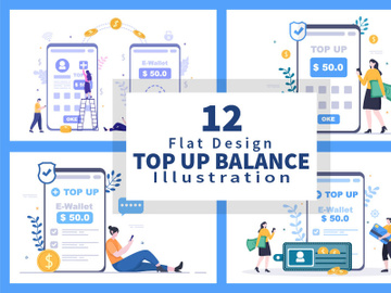 12 Top Up Money Balance Vector Illustration preview picture