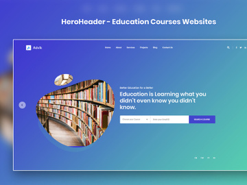 HeroHeader for Education Courses Websites preview picture