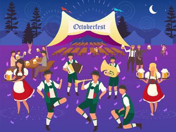 Oktoberfest flat vector illustration preview picture