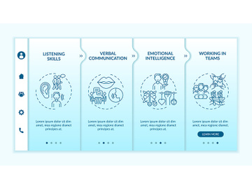 Interpersonal skill self assessment categories onboarding vector template preview picture