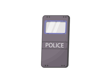 Police shield cartoon vector illustration preview picture