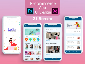 E commerce App UI Adobe xd and PSD Design full project preview picture