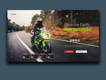 Motorbike Landing Page preview picture