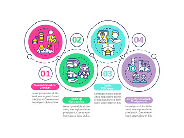 EV societal protection vector infographic template preview picture