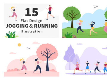 15 Jogging or Running Illustration preview picture