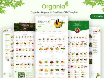 Organia - Organic & Food Store XD Templete preview picture