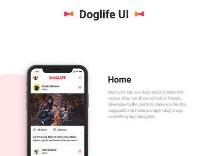 Doglife – A free UI kit for Adobe XD by Yagnesh P ~ EpicPxls