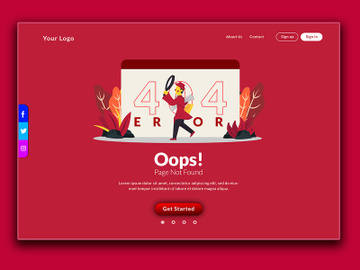 Oops 404 Page Not Found preview picture
