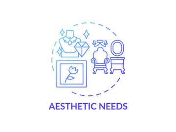 Aesthetic needs blue gradient concept icon preview picture