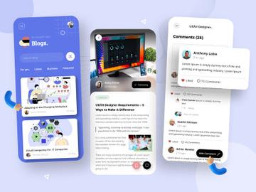 Blogging Mobile App Design preview picture